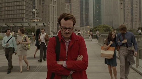 """JOAQUIN PHOENIX as Theodore in the romantic drama """"HER,"""" directed by Spike Jonze, a Warner Bros. Pictures release."""